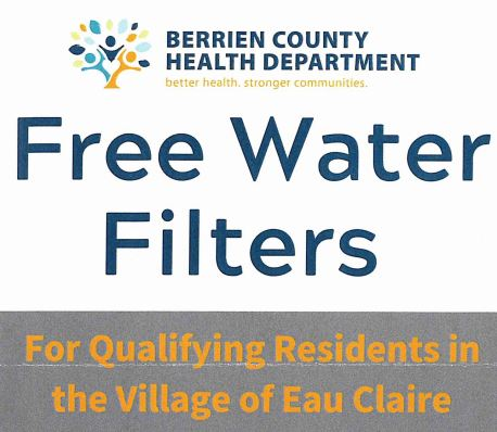 Free Water Filters for Qualifying Residents in the Village of Eau Claire